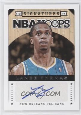 2013-14 NBA Hoops - Signatures #39 - Lance Thomas