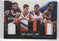 Carmelo Anthony, Amar'e Stoudemire, Brook Lopez, Deron Williams #/20