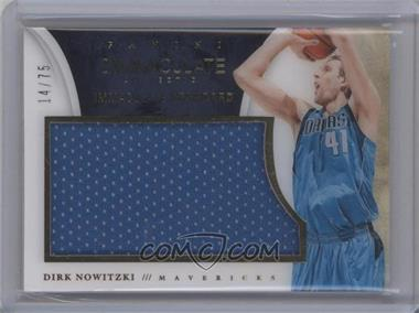 2013-14 Panini Immaculate Collection - Immaculate Standard Materials #65 - Dirk Nowitzki /75