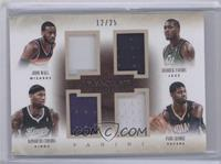 DeMarcus Cousins, Derrick Favors, John Wall, Paul George #/25