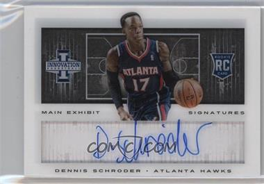 2013-14 Panini Innovation - Main Exhibit Signatures Rookies #23 - Dennis Schroder /199