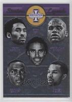 Derek Fisher, Horace Grant, Kobe Bryant, Rick Fox, Shaquille O'Neal