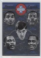 Bill Laimbeer, Isiah Thomas, Joe Dumars, Mark Aguirre, Rick Mahorn