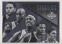 Brook Lopez, Deron Williams, Joe Johnson, Kevin Garnett, Paul Pierce