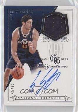 2013-14 Panini National Treasures - NBA Game Gear Signatures #GS-EK - Enes Kanter /75