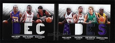 2013-14 Panini Preferred - Decades Memorabilia Booklet #1 - Allen Iverson, Dirk Nowitzki, Kobe Bryant, Shaquille O'Neal, Tim Duncan, Tracy McGrady, Vince Carter /199