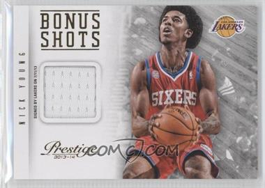 2013-14 Panini Prestige - Bonus Shots Materials #76 - Nick Young