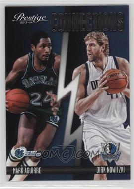 2013-14 Panini Prestige - Connections #14 - Dirk Nowitzki, Mark Aguirre
