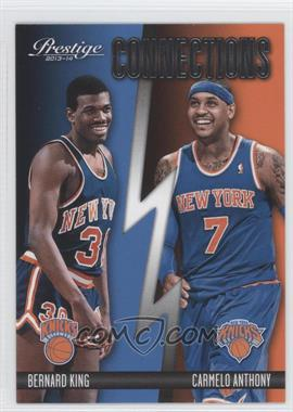 2013-14 Panini Prestige - Connections #4 - Bernard King, Carmelo Anthony