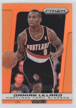 2013-14 Panini Prizm - [Base] - Orange Prizms #19 - Damian Lillard /60