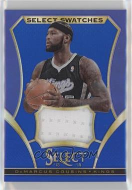 2013-14 Panini Select - Select Swatches - Blue Prizm #23 - DeMarcus Cousins /49