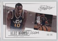 Alec Burks #/35