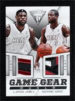 Dwyane Wade, LeBron James #/25