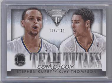 2013-14 Panini Titanium - Team Titans #7 - Stephen Curry, Klay Thompson /149