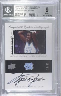 2013-14 Upper Deck Exquisite Collection - Retro Rookie Autographs #78-MJ - Michael Jordan /35 [BGS9MINT]