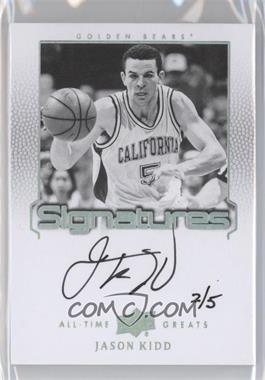 2013 Upper Deck All-Time Greats - Signatures - Spectrum Silver #ATG-JK3 - Jason Kidd /5