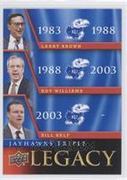 Bill Self, Larry Brown, Roy Williams