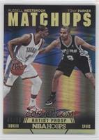 Russell Westbrook, Tony Parker #/99