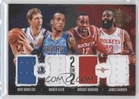 Dirk Nowitzki, Dwight Howard, James Harden, Monta Ellis #/99