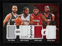 Kawhi Leonard, Dwyane Wade, LeBron James, Tony Parker #/99