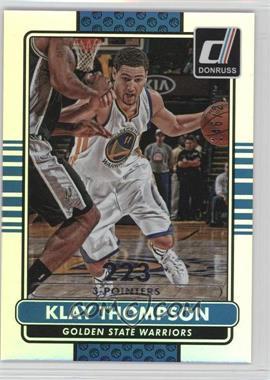 2014-15 Panini Donruss - [Base] - Stat Line Silver Season #10 - Klay Thompson /223