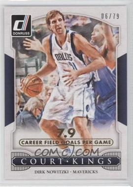 2014-15 Panini Donruss - Court Kings - Stat Line Career #19 - Dirk Nowitzki /79
