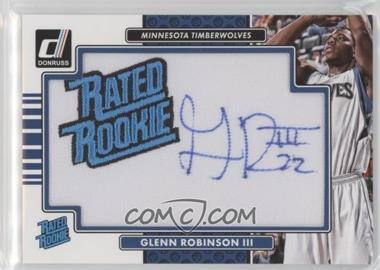 2014-15 Panini Donruss - Rated Rookie Signature Patches #RR-GR - Glenn Robinson III