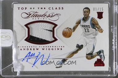2014-15 Panini Flawless - Top of the Class Autograph Memorabilia - Ruby #TC-AW - Andrew Wiggins /15 [Uncirculated]