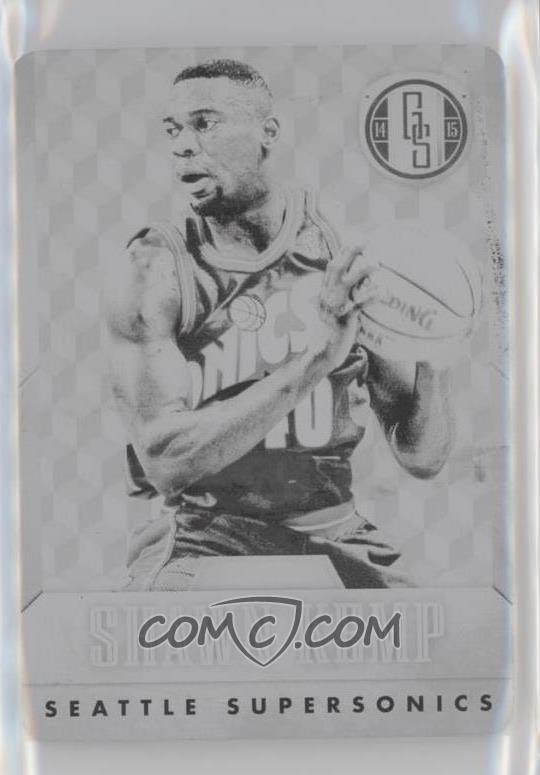8c262e701 2014-15 Panini Gold Standard -  Base  - 14-15 National Treasures Printing  Plate Black  191 - Shawn Kemp  1