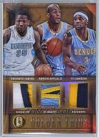 Kenneth Faried, Arron Afflalo, Ty Lawson /25