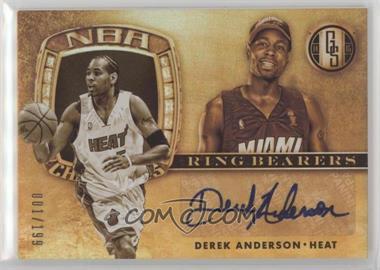 2014-15 Panini Gold Standard - Ring Bearers #15 - Derek Anderson /199