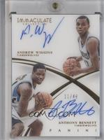 Andrew Wiggins, Anthony Bennett #/49