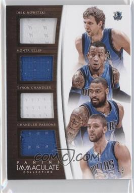 2014-15 Panini Immaculate Collection - Quad Relics #Q-DAL - Dirk Nowitzki, Monta Ellis, Chandler Parsons, Tyson Chandler /49