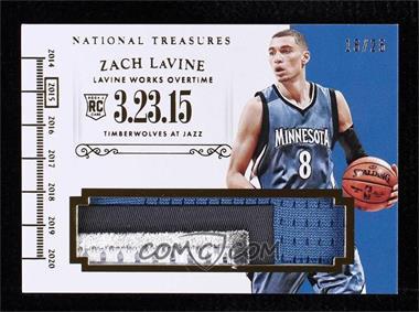 2014-15 Panini National Treasures - Timelines - Prime #T-ZL - Zach LaVine /25