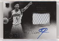 Black and White Autographed Patch Rookies - Elfrid Payton #/99