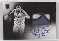 Black and White Autographed Patch Rookies - Glenn Robinson III #/99