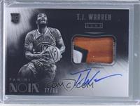 Black and White Autographed Patch Rookies - T.J. Warren /99