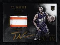 Color Autographed Patch Rookies - T.J. Warren #/99