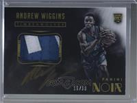 Color Autographed Patch Rookies - Andrew Wiggins #16/99
