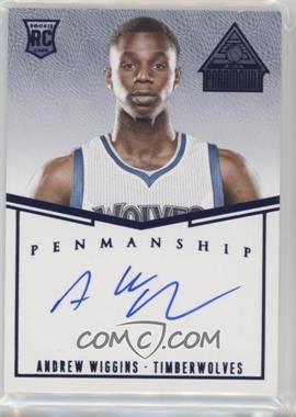 2014-15 Panini Paramount - Penmanship Rookies - Blue #PR-AW - Andrew Wiggins /49