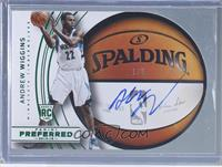 Roundball Die-Cut Autographs - Andrew Wiggins #/5