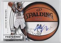 Roundball Die-Cut Autographs - Andrew Wiggins #/35