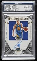 Silhouettes Autographs - Stephen Curry [PSA/DNACertifiedEncased] #/…