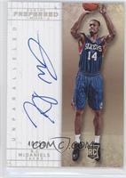 Unparalleled Rookies Autographs - K.J. McDaniels #/50