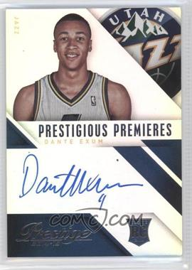 2014-15 Panini Prestige - Prestigious Premieres Signatures - Premium #PP-DE - Dante Exum