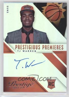 2014-15 Panini Prestige - Prestigious Premieres Signatures - Premium #PP-TW - T.J. Warren