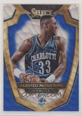 2014-15 Panini Select - [Base] - Blue and Silver Prizm #176 - Premier Level - Alonzo Mourning