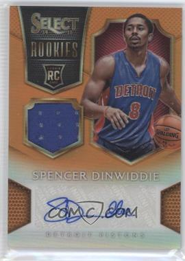 2014-15 Panini Select - Rookie Jersey Autographs - Orange Prizm #17 - Spencer Dinwiddie /60