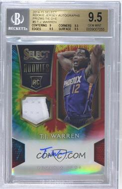 2014-15 Panini Select - Rookie Jersey Autographs - Tie-Dye Prizm #5 - T.J. Warren /25 [BGS9.5GEMMINT]