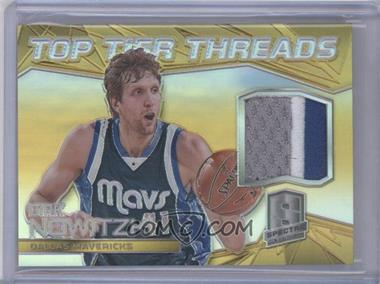 2014-15 Panini Spectra - Top Tier Threads - Gold Prizm #TT-DN - Dirk Nowitzki /10